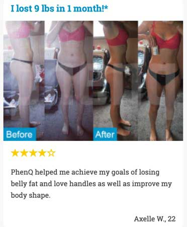 PhenQ before and after photo's