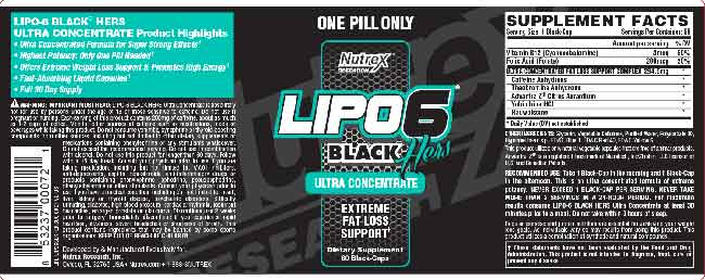 Lipo 6 Black Hers Concentrate Ingredients