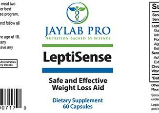 LeptiSense ingredients label
